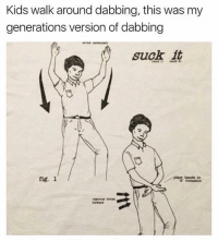 Kids, Fig, and Figs: Kids walk around dabbing, this was my  generations version of dabbing  suck it  piace banda tn  fig. 1