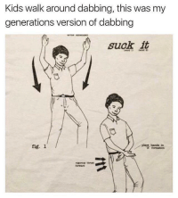fig: Kids walk around dabbing, this was my  generations version of dabbing  suck it  piace banda tn  fig. 1