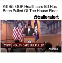 """Kill Bill: GOP Healthcare Bill Has Been Pulled Of The House Floor - blogged by: @eleven8 ⠀⠀⠀⠀⠀⠀⠀⠀⠀ ⠀⠀⠀⠀⠀⠀⠀⠀⠀ That's it, that's cancelled! Republicans have decided to move on to other issues and will be leaving Obamacare as is. ⠀⠀⠀⠀⠀⠀⠀⠀⠀ ⠀⠀⠀⠀⠀⠀⠀⠀⠀ According to USAToday, House speaker PaulRyan decided to cancel the vote on the GOP bill which would replace Obamacare because he did not have enough votes from his own Republican party to pass the legislation. This news comes after it was revealed 30-40 Republicans were going to shut down the legislation at the vote, initially scheduled for Thursday. The bill has officially been pulled from the House floor. ⠀⠀⠀⠀⠀⠀⠀⠀⠀ ⠀⠀⠀⠀⠀⠀⠀⠀⠀ """"We came really close today, but we came up short,"""" Ryan said at a press conference. """"I will not sugarcoat this: this is a disappointing day for us. Doing big things is hard."""" ⠀⠀⠀⠀⠀⠀⠀⠀⠀ ⠀⠀⠀⠀⠀⠀⠀⠀⠀ """"Obamacare is the law of the land,"""" Ryan continued. """"It's going to remain the law of the land."""" ⠀⠀⠀⠀⠀⠀⠀⠀⠀ ⠀⠀⠀⠀⠀⠀⠀⠀⠀ The House will now go on to concern themselves with tax reform, border control and other issues. ⠀⠀⠀⠀⠀⠀⠀⠀⠀ ⠀⠀⠀⠀⠀⠀⠀⠀⠀ Some are blaming Trump's inability to close the deal on the new healthcare bill failing. ⠀⠀⠀⠀⠀⠀⠀⠀⠀ ⠀⠀⠀⠀⠀⠀⠀⠀⠀ """"They can't write policy that actually makes sense, they can't implement the policies they do manage to write, they can't get their stories straight, and today we've learned that they can't close a deal, and they can't count votes,"""" Senate Minority Leader Chuck Schumer, (D) New York, said. """"So much for the Art of the Deal."""" ⠀⠀⠀⠀⠀⠀⠀⠀⠀ ⠀⠀⠀⠀⠀⠀⠀⠀⠀ Just a week ago, DonaldTrump took to Twitter to criticize Obamacare, otherwise known as the AffordableCareAct. ⠀⠀⠀⠀⠀⠀⠀⠀⠀ ⠀⠀⠀⠀⠀⠀⠀⠀⠀ """"ObamaCare is imploding,"""" Trump tweeted. """"It is a disaster and 2017 will be the worst year yet, by far! Republicans will come together and save the day."""" ⠀⠀⠀⠀⠀⠀⠀⠀⠀ ⠀⠀⠀⠀⠀⠀⠀⠀⠀ I guess that wasn't the case.: Kill Bill: GOP Healthcare Bill Has  Been Pulled Of The House Floor  @balleralert  LIVE  CAPITOL HILL """