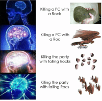 Here comes the heat  -Law: Killing a PC with  a Rock  Killing a PC with  a Roc  Killing the party  with falling Rocks  (D  Killing the party  with falling Rocs Here comes the heat  -Law