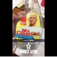 Is that Mr. Clean? 😂👀 WSHH @worldstar (via @ali_5aeed): KILLS  99.9% OF  GERMS  ULTHUACES ANTIBACTERIAL SPRAY  Wait for it  HIP HOP.CO M Is that Mr. Clean? 😂👀 WSHH @worldstar (via @ali_5aeed)