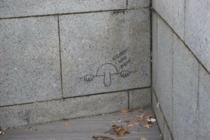 Kilroy Was Here…At the Nat'l WWII Monument.: Kilroy Was Here…At the Nat'l WWII Monument.