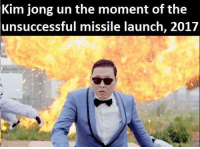 """<p>Psy/Kim Jong un memes are on ther rise!! BUY BUY BUY via /r/MemeEconomy <a href=""""http://ift.tt/2ptzjWx"""">http://ift.tt/2ptzjWx</a></p>: Kim jong un the moment of the  unsuccessful  missile launch, 201/ <p>Psy/Kim Jong un memes are on ther rise!! BUY BUY BUY via /r/MemeEconomy <a href=""""http://ift.tt/2ptzjWx"""">http://ift.tt/2ptzjWx</a></p>"""