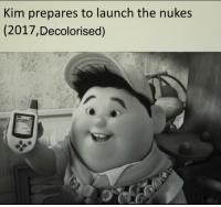 """Memes, Http, and Via: Kim prepares to launch the nukes  (2017,Decolorised) <p>Because colorized is too mainstream via /r/memes <a href=""""http://ift.tt/2uUcfqb"""">http://ift.tt/2uUcfqb</a></p>"""