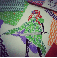 Instagram, Taken, and Target: kim-quim:  Cardverse Hungary in traditional origami paper #fanart #APH:hungary (Taken with Instagram)