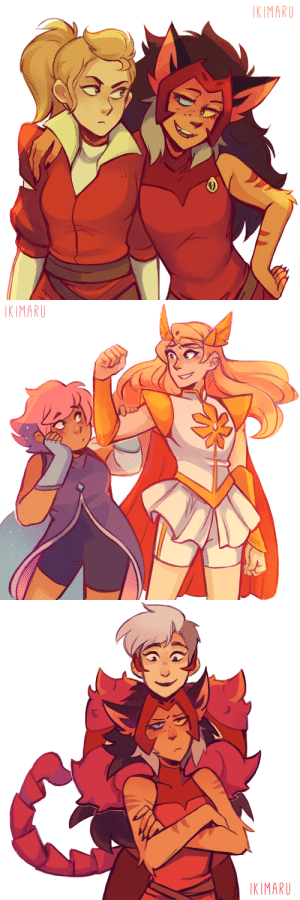 Tumblr, Blog, and Com: KIMARU   KIMARU   KIMARU ikimaru:    drew those she-ra ships suggestions from the other day! ✨