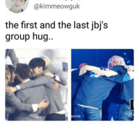 :((((: @kimmeowguk  the first and the last jbj's  group hug  ..  윤1  ents. :((((
