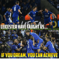 Leicester 2-0 Sevilla 😱🔥: KING  KING  POWE  POWER  PON  HAVE  TAUGHTUS  TrollFootballHQ  NG  POWER  lF WOUDREAM, YOUCANACHIEVE Leicester 2-0 Sevilla 😱🔥