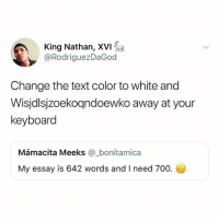 text color