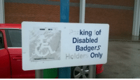 MeIRL, King, and Badgers: king of  Disabled  Badgers  Holders Only meirl