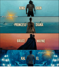 "My Fantastic Four * AQUAMAN The Sovereign of the Seas Atlantean Name: Orin Human Name: Arthur Curry @prideofgypsies as seen in ""Justice League"" * WONDER WOMAN The Warrior Goddess Amazonian Name: Diana Civilian Identity: Diana Prince @gal_gadot as seen in ""Wonder Woman"" * THE BATMAN The Dark Knight Real Name: Bruce Wayne Aliases: Matches Malone, Lefty Knox @benaffleck as seen in ""Batman v Superman"" * SUPERMAN The Man of Tomorrow Kryptonian Name: Kal-El Civilian Name: Clark Kent @henrycavill as seen in ""Man of Steel"" *** mywonderwoman girlpower women femaleempowerment MulherMaravilha MujerMaravilla: KING  ORIN  DIANA  PRINCESS  BRUCE  WAYNE  KAL My Fantastic Four * AQUAMAN The Sovereign of the Seas Atlantean Name: Orin Human Name: Arthur Curry @prideofgypsies as seen in ""Justice League"" * WONDER WOMAN The Warrior Goddess Amazonian Name: Diana Civilian Identity: Diana Prince @gal_gadot as seen in ""Wonder Woman"" * THE BATMAN The Dark Knight Real Name: Bruce Wayne Aliases: Matches Malone, Lefty Knox @benaffleck as seen in ""Batman v Superman"" * SUPERMAN The Man of Tomorrow Kryptonian Name: Kal-El Civilian Name: Clark Kent @henrycavill as seen in ""Man of Steel"" *** mywonderwoman girlpower women femaleempowerment MulherMaravilha MujerMaravilla"