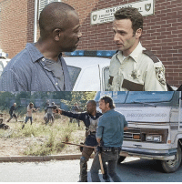 Memes, 🤖, and Twd: KING  SHERIFF  LAW ENFORC  DE  T The original duo TheWalkingDead TWD WalkingDead RickGrimes MorganJones
