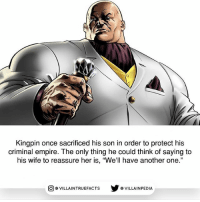 """Source: Punisher MAX 5 (2010) marvelstudios marvel kingpin daredevil ThePunisher awesome comicbooks: Kingpin once sacrificed his son in order to protect his  criminal empire. The only thing he could think of saying to  his wife to reassure her is, """"We'll have another one.""""  回@VILLA IN TRUEFACTS  步@VILLA IN PEDI Source: Punisher MAX 5 (2010) marvelstudios marvel kingpin daredevil ThePunisher awesome comicbooks"""