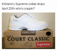 Supreme: Kirkland x Supreme collab drops  April 20th who's coppin?  Supreme  ODViral  KIRKLAND  MEN'S  CLASSIC  Supreme