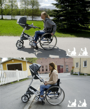Love, Target, and Tumblr: kirkypet:  denyandfollow:  morganoperandi:  allthebeautifulthings9828:  Guys, look. They finally made a baby stroller for wheelchair-bound mothers. This is so important.  My wife is a physical therapist. She started tearing up when I showed this to her.  I love seeing ableist norms broken.  Just a quick wave to RemapNI who adapt devices for people with disabilities