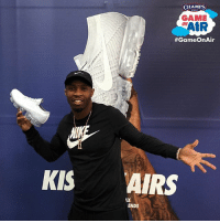NFL WR @tayawesome11 stopped by Champs Santa Monica to put his GameOnAir! Did you grab your VaporMax yet?: KIS  CHAMPS  GAME  tR  ON  #GameOnAir  AIRS  ENDS NFL WR @tayawesome11 stopped by Champs Santa Monica to put his GameOnAir! Did you grab your VaporMax yet?