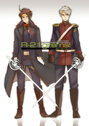 vodkaliciousunflower:  PruAus: Kishiro Yutaka  AXIS POWERS HETALIA FAN CICLE  R-21grams  20121007 vodkaliciousunflower:  PruAus