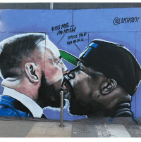Mayweather, Memes, and Yo: KISS ME.  MIRS  @LUSHX  ONCE Yo  ro BLACK  Gro @lushsux 🤣🤣🤣 both the Ya can shut the fuck up already credit: @lushsux mayweather mcgregor fookssake