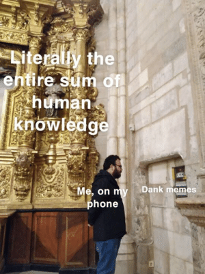 Dank, Memes, and Phone: kite  the  entire sum of  human  knowledg  Dank memes  e, on  phone