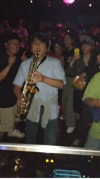 Club, Tumblr, and Blog: kittenoftheinternet: catchymemes:  When a random guy with a saxophone shows up to the club they let him have a solo this is so wholesome!