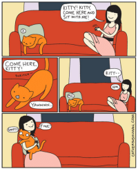 """Amazon, Children, and Target: KITTY KITTY  COME HERE AND  SIT WITH ME  COME HERE,  KITTY  SCRITCH  KITT-  HM  YAwwWN  FINE  SMFT! <p><a class=""""tumblr_blog"""" href=""""http://catversushuman.tumblr.com/post/63610419301"""" target=""""_blank"""">catversushuman</a>:</p> <blockquote> <p>Sometimes we need to take some initiative.</p> <p>———</p> <p><em>Just a little FYI,<a href=""""http://www.catsparella.com/2013/10/win-copy-of-i-see-kitty-by-cat-versus.html"""" target=""""_blank"""">Catsparella</a> is doing a giveaway for my <a href=""""http://www.amazon.com/I-See-Kitty-Yasmine-Surovec/dp/1596438622"""" target=""""_blank"""">children's book</a> <a href=""""http://www.catsparella.com/2013/10/win-copy-of-i-see-kitty-by-cat-versus.html"""" target=""""_blank"""">here</a>.</em></p> </blockquote>"""