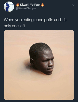 CoCo, Dank, and Memes: Kiwaki Yo Papi  @KiwakiSenpai  When you eating coco puffs and it's  only one left It's getting soggy. by yourkhalil MORE MEMES