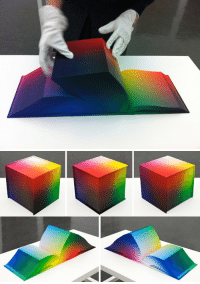 "Clock, Curving, and Dumb: kiyarasabel:  kimievers:  isalh-on-whatever:  japhers:  axylhart:  ask-gallows-callibrator:       The Most Gorgeous Book Ever Has No Words Or Pictures, Just Color This is the RGB Colorspace Atlas by Tauba Auerbach. The 8""x8"" hardcover tome is pretty much an encyclopedia of every color in the RGB index. It's huge, it's gorgeous, and I want one.  I KNOW WHAT THIS NEEDS   It's like they were made for each other.  Sensors alight, the pen trailed itself sensually down the gradient shift from yellow to blue along ample curve of paper, dipping closer and closer to the book's spine. ""Can you imagine it?"" the pen whispered, whirring and selecting #00563F with practiced intimacy. ""Just picture it. With your collection and my potential…we can color the world.""    A pen and a book A notepad and a clockCAN I REQUEST A DOUBLE DATE??  request accomplished -        SMACKDOWN TIME  How the fuck did it end up like this  This is the greatest thing I HAVE EVER SEEN   Remember when Tumblr used to do this dumb shit instead of perpetuating drama about problematic receipts that were years old?"