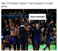 Finals, Klay Thompson, and Nba: Klay Thompson doesn't want people to forget  either  WEBLEWA3 LEADIN THE FINALS  RusA  USA Tell 'em Klay Thompson