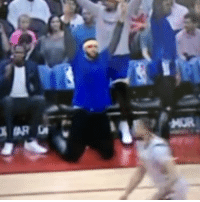 Klay's 3-pointer brought Javale to his knees. MoreLife: Klay's 3-pointer brought Javale to his knees. MoreLife