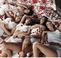 Calvin Klein, Memes, and Waiting...: Klein Kylie posed in bed with her sisters - Kim, Khloe, Kendall, and Kourtney - while rocking their Calvin Klein undies, but she was careful to NOT reveal what everyone's waiting to see. kyliejenner kendalljenner kimkardashian tmz khloekardashian calvins kourtneykardashian calvinklein