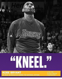 """KNEEL,""  KOBE BRYANT  ON WHAT HE WOULD DO DURING THE NATIONAL ANTHEM  VIA THE  HOLLYWOOD  REPORTER 🚨 BeefALERT 🚨 KobeBryant is with the shits."