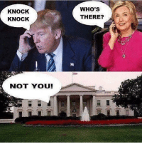 Merica: KNOCK  KNOCK  NOT YOU!  WHO'S  THERE? Merica