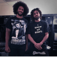 Colin Kaepernick x J Cole 🔥💯 @Kaepernick7 @JColeNC https://t.co/z81PCvgYRg: KNOW  MY  RIGHTS  REAT AFRICAN AMERIAN  Muhammad Ali & Malcom  mmad Ali And Malcolm X In Mans  Muhamn  Torida  Heht Atter Ali Won The Workd  tle F  rom Sonny Liston, February 5  Sing Out loud  30 Colin Kaepernick x J Cole 🔥💯 @Kaepernick7 @JColeNC https://t.co/z81PCvgYRg