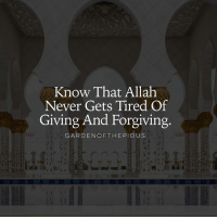 "Memes, Earth, and Messenger: Know That Allah  Never Gets Tired Of  Giving And Forgiving  GARDEN OF THE PIOUS On the authority of Anas (may Allah be pleased with him), who said: I heard the Messenger of Allah (ﷺ) say: Allah the Almighty said: - ""O son of Adam, so long as you call upon Me and ask of Me, I shall forgive you for what you have done, and I shall not mind. O son of Adam, were your sins to reach the clouds of the sky and were you then to ask forgiveness of Me, I would forgive you. O son of Adam, were you to come to Me with sins nearly as great as the earth and were you then to face Me, ascribing no partner to Me, I would bring you forgiveness nearly as great as it."" It was related by at-Tirmidhi (also by Ahmad ibn Hanbal). Its chain of authorities is sound. (Hadith Qudsi, 34)"