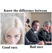 "Bad, Dank, and Meme: Know the difference between  Good succ  Bad zucc <p>Had to do it via /r/dank_meme <a href=""https://ift.tt/2qmJpKC"">https://ift.tt/2qmJpKC</a></p>"