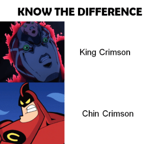 In the Court of the Crimson Chin: KNOW THE DIFFERENCE  King Crimson  Chin Crimson In the Court of the Crimson Chin