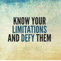 Defy your limitations. . @officialdoyoueven 👈: KNOW YOUR  LIMITATIONS  AND DEFY THEM Defy your limitations. . @officialdoyoueven 👈