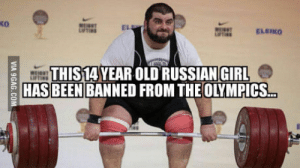Olympics 2016: ko  EL  ELEIKO  THIS14 YEAR OLD RUSSIAN GIRL  HAS BEEN BANNED FROM THE OLYMPICS. Olympics 2016