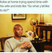 "Chris Rock, Memes, and Home: Kobe at home trying spend time with  his wife and kids like ""So what y'all like  to do?""  @NBAMEMES  2016 Chris Rock  hosay"