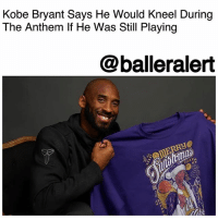 "Donald Trump, Kobe Bryant, and Luke Walton: Kobe Bryant Says He Would Kneel During  The Anthem If He Was Still Playing  @balleralert Kobe Bryant Says He Would Kneel During The Anthem If He Was Still Playing – blogged by @MsJennyb ⠀⠀⠀⠀⠀⠀⠀ ⠀⠀⠀⠀⠀⠀⠀ Prior to the start of NBA preseason, the league released a memo to remind teams of the rule that requires players and coaches to stand during the national anthem. Since then, a few teams have announced that they would be protesting the national anthem by locking arms, while others revealed that they will not be participating in the protest at all. ⠀⠀⠀⠀⠀⠀⠀ ⠀⠀⠀⠀⠀⠀⠀ However, amid the ongoing controversy, Kobe Bryant says if he were still playing today, he would be kneeling during the national anthem, despite the league rule. The retired Los Angeles Laker player revealed his decision on Wednesday, on The Hollywood Reporter's Awards Chatter podcast. ⠀⠀⠀⠀⠀⠀⠀ ⠀⠀⠀⠀⠀⠀⠀ ""Kneel,"" Bryant said, when asked what he would do if faced with the decision. When asked what he would say if he could speak to Donald Trump, he said he's advise the celebrity-in-chief to ""focus on serving, not leading."" ⠀⠀⠀⠀⠀⠀⠀ ⠀⠀⠀⠀⠀⠀⠀ Bryant's former team is one of many that have decided to lock arms during the anthem prior to the start of preseason games. The team's coach discussed the decision last week saying, ""We are in this together."" ⠀⠀⠀⠀⠀⠀⠀ ⠀⠀⠀⠀⠀⠀⠀ ""I think they chose to show that we are united in this and that obviously they have a ton of respect… well, I will let them speak for themselves, but I have a ton of respect for the country, the flag, the military,"" Luke Walton said. ""But by locking arms, I feel like we are showing that there are issues in this country, and it is a chance for us to raise awareness and still make it a talking point. If you do nothing, then it kind of goes away, and if it goes away, then nothing changes."""