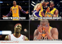 KOBE I'M OPEN PASS! JUST GET THE REBOUND DWIGHT! Kobe Bryant passing to Dwight Howard?