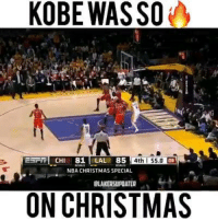 Memes, Kobe, and 🤖: KOBE WASSO  ESTITI CH  81  LA  85  4th Ss.a  NBA CHRISTMAS SPECIAL  ON CHRISTMAS