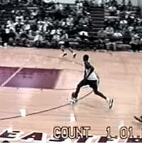 Dunk, School, and Sports: @kobebryant with a between the legs dunk during a high school game. 🏀🔥 fbf