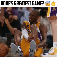 Klay Thompson, Memes, and Kobe: KOBE'S GREATEST GAME? Was this Kobe's Greatest Game? He had 34 points battling several injuries, crossed Steph Curry and Klay Thompson, and also put up two free throws while battling an Achilles Heel injury! 😨🔥 - Follow@basketballsyndrome For More! - Via @alleyoopings