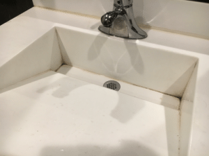 Kohler, All of The, and Soap: KOHLER Neat sink, BUT the bottom section is not slanted toward the drain so all of the soap, dirt, and anything else sits on the flat surface.