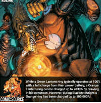 His power level is over 9,000 (DBZ reference) ________________________________________________________ WallyWest GreenLantern WonderWoman JusticeLeague DC Superman Batman Supergirl DCEU Joker Flash Cyborg DarthVader Aquaman Robin MartianManhunter Deadpool Like Spiderman Rebirth DCRebirth Like4Like Facts Comics BvS StarWars Marvel CW Disney DCComics: KOLINS  While a Green Lantern ring typically operates at 100%  with a full charge from their power battery, a Orange  Lantern ring can be charged up to 7839% by drawing  in his construct. However, during Blackest Knight a  COMICSOURCE Orange ring has been charged up to 100,000%! His power level is over 9,000 (DBZ reference) ________________________________________________________ WallyWest GreenLantern WonderWoman JusticeLeague DC Superman Batman Supergirl DCEU Joker Flash Cyborg DarthVader Aquaman Robin MartianManhunter Deadpool Like Spiderman Rebirth DCRebirth Like4Like Facts Comics BvS StarWars Marvel CW Disney DCComics