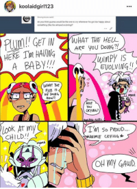 -James: koolaidgirl123  Anonymous  do you think guzma would be the one to cry whenever he got too happy about  something oke his wimpod evolving)?  GET IN WHAT THE HELL  ARE YOU Dong  HERE HAVING  IS  EVOLVING  A BABY!  WHAT THE  PUK IS  HE DOING  AMAR  Now?  ARE  YOU  CRYING?  TM so PROUD...  CHILD.  ANIME CRYING  MAnA  OH MY GAWD -James