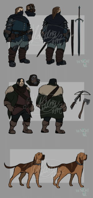kottkrig:  Designs for Scorn and Radclyffe ( + Baxter the bloodhound), some of the playable characters of mine and @benchflip's project, The Night Air. Why create entirely new characters when we can just revamp and use the ones we've spent years writing, right?Their designs are more simplified than what I usually go with for them, but I kinda like it. :D: kottkrig:  Designs for Scorn and Radclyffe ( + Baxter the bloodhound), some of the playable characters of mine and @benchflip's project, The Night Air. Why create entirely new characters when we can just revamp and use the ones we've spent years writing, right?Their designs are more simplified than what I usually go with for them, but I kinda like it. :D