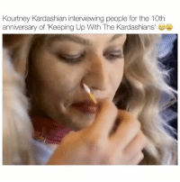 how did nobody know it was Kourt??? 😳😅 - follow @kardashiianvideos (me) for more 💓: Kourtney Kardashian interviewing people for the 10th  anniversary of 'Keeping Up With The Kardashians'e how did nobody know it was Kourt??? 😳😅 - follow @kardashiianvideos (me) for more 💓