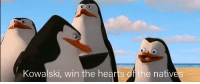 Hearts, World, and Columbus: Kowalski, win the hearts of the nativ Columbus arriving in the new world (1492, Colorized)
